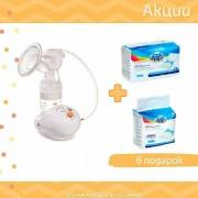 Электрический молокоотсос Easy Start, Canpol + в подарок: прокладки послеродовые (10 шт) + послеродовые ночные (10 шт) !!!