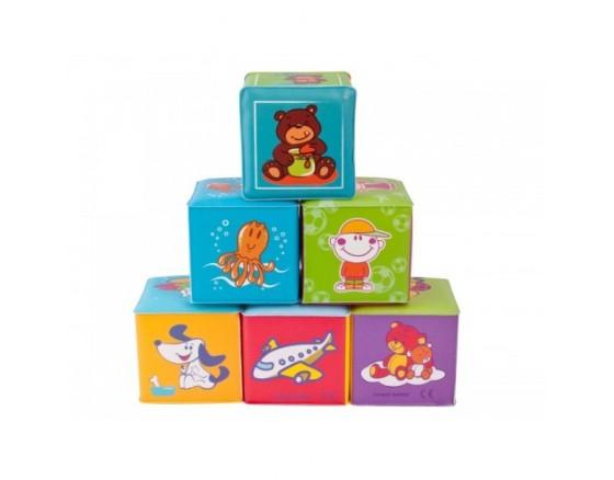 Мягкая игрушка кубик, клеенчатый, 6 шт., 6+