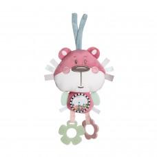 """Мягкая игрушка с зеркальцем и прорезывателями, к коляске/кроватке """"Pastel Friends"""" (Мишка)"""
